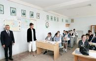 "First VP Mehriban Aliyeva visits school in Kurdakhani settlement <span class=""color_red"">[PHOTO]</span>"