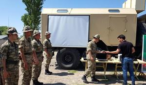 """As part of Azerbaijani army exercises, support points have been created in field <span class=""""color_red"""">[PHOTO/VIDEO]</span>"""