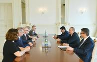 "President Ilham Aliyev receives German Bundestag delegation <span class=""color_red"">[PHOTO]</span>"