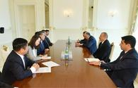 "President Ilham Aliyev receives delegation led by Chinese FM <span class=""color_red"">[PHOTO]</span>"