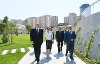 "Azerbaijani president, First Lady attend opening of garden and Central Park in Baku <span class=""color_red"">[PHOTO]</span>"