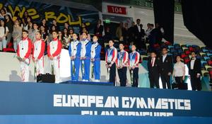 """Winners among junior trios, groups within European Aerobic Gymnastics Championships awarded in Baku <span class=""""color_red"""">[PHOTO]</span>"""