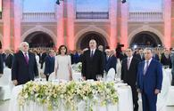"""President Aliyev, First Lady Mehriban Aliyeva attend official reception on occasion of Republic Day <span class=""""color_red"""">[PHOTO]</span>"""