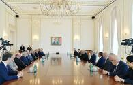 "Azerbaijani president receives UEFA delegation <span class=""color_red"">[UPDATE]</span>"