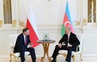 """Azerbaijani, Polish presidents hold one-on-one meeting in Baku <span class=""""color_red"""">[UPDATE]</span>"""