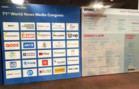 Trend News Agency, Azernews at 71st World News Media Congress and World Editors Forum in Scotland