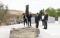 "Azerbaijani president, First Lady inaugurate Yanardag Reserve after major overhaul <span class=""color_red"">[UPDATE]</span>"