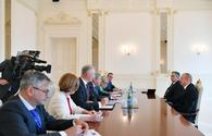 "Azerbaijani President receives delegation led by EU Commissioner <span class=""color_red"">[UPDATE]</span>"