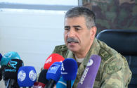 Azerbaijani defense minister attends opening of new training center