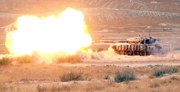 """Azerbaijani army holds exercises at combined-arms range <span class=""""color_red"""">[PHOTO/VIDEO]</span>"""