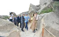 """UNESCO Director-General visits Gobustan National Historical-Artistic Reserve <span class=""""color_red"""">[PHOTO]</span>"""