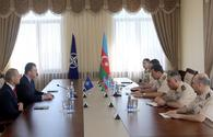 """Chief of General Staff of Azerbaijani Armed Forces meets Commander of NATO Special Operations Headquarters <span class=""""color_red"""">[PHOTO]</span>"""
