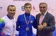 National karate fighter grabs silver in Croatia
