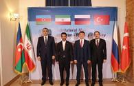 "Tehran hosts high-rank quadrilateral meeting between Iran, Azerbaijan, Russia and Turkey <span class=""color_red"">[PHOTO]</span>"