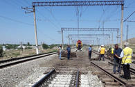 Installation of new railroad switches continues on Azerbaijani railways