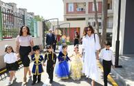 Azerbaijan's First VP Mehriban Aliyeva attends opening of orphanage-kindergartens and joined festivities for children