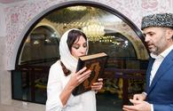 First Vice-President Mehriban Aliyeva presented with Quran at Bibiheybet shrine