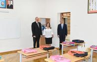 "President Ilham Aliyev views newly-reconstructed school in Baku's Surakhani district <span class=""color_red"">[UPDATE]</span>"