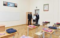 "Azerbaijani president views conditions at newly-reconstructed school in Baku's Surakhani <span class=""color_red"">[UPDATE]</span>"