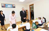 "President Aliyev, First Lady Mehriban Aliyeva inaugurate new educational complex of secondary school No 300 in Binagadi <span class=""color_red"">[PHOTO]</span>"
