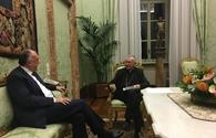 "Elmar Mammadyarov meets with the Secretary of State of His Holiness the Pope <span class=""color_red"">[PHOTO]</span>"