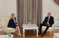 """President Ilham Aliyev receives Georgian minister of economy and sustainable development <span class=""""color_red"""">[UPDATE]</span>"""