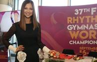 Legendary gymnast's ribbon auctioned during Rhythmic Gymnastics World Championships held in Baku
