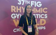 Aliya Garayeva supports Azerbaijani athletes on fourth day of Rhythmic Gymnastics World Championship