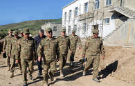 "Azerbaijan's defense minister visits military units under construction on frontline <span class=""color_red"">[PHOTO]</span>"