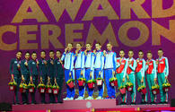 "Awarding ceremony of winners of 37th Rhythmic Gymnastics World Championships held in Baku <span class=""color_red"">[PHOTO]</span>"