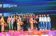 """Awarding ceremony held for winners of group exercises at 37th Rhythmic Gymnastics World Championships in Baku <span class=""""color_red"""">(PHOTO)</span>"""