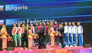 "Awarding ceremony held for winners of group exercises at 37th Rhythmic Gymnastics World Championships in Baku <span class=""color_red"">(PHOTO)</span>"
