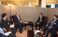 """Elmar Mammadyarov meets with the PM of the Republic of North Macedonia <span class=""""color_red"""">[PHOTO]</span>"""
