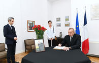 "Azerbaijani president, First Lady visit French embassy to offer condolences over death of ex-President Chirac <span class=""color_red"">[PHOTO]</span>"