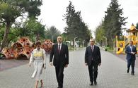 "Azerbaijani president, First Lady view conditions created at reconstructed park in Baku <span class=""color_red"">[UPDATE]</span>"