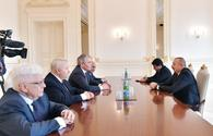 """President Ilham Aliyev receives Russian delegation <span class=""""color_red"""">[UPDATE]</span>"""