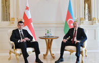 "Azerbaijani president receives Georgian PM <span class=""color_red"">[UPDATE]</span>"