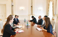 """President Ilham Aliyev receives delegation led by president of Swiss Council of States <span class=""""color_red"""">[UPDATE]</span>"""