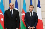 French President Macron calls President Ilham Aliyev for support
