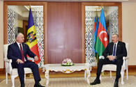 """President Ilham Aliyev meets with Moldovan President Igor Dodon <span class=""""color_red"""">[UPDATE]</span>"""