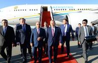 "Kazakhstan's first President Nursultan Nazarbayev arrives in Azerbaijan <span class=""color_red"">[PHOTO]</span>"