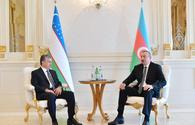 "Presidents of Azerbaijan, Uzbekistan meet in Baku <span class=""color_red"">[UPDATE]</span>"