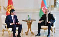 "Azerbaijani president meets with Kyrgyz counterpart <span class=""color_red"">[UPDATE]</span>"