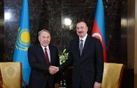 "President Ilham Aliyev meets First President of Kazakhstan Nursultan Nazarbayev <span class=""color_red"">[UPDATE]</span>"