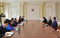 "President Ilham Aliyev receives Speaker of Republic of Korea National Assembly <span class=""color_red"">[PHOTO]</span>"