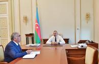 "President Ilham Aliyev receives chairman of Board of Directors of Azerbaijan Highway State Agency <span class=""color_red"">[PHOTO]</span>"