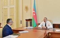 Azerbaijani president receives chairman of State Committee for Refugee and IDP Affairs