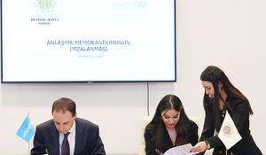 """Heydar Aliyev Foundation, UNICEF sign MoU <span class=""""color_red"""">[PHOTO]</span>"""