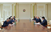 Azerbaijani president receives delegation led by Iranian FM