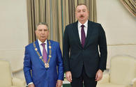 "President Ilham Aliyev receives Ramiz Mehdiyev, presents him with &quot;Heydar Aliyev&quot; order <span class=""color_red"">[PHOTO]</span>"